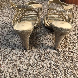 Kelly & Katie Shoes - Gold Sparkle Heels